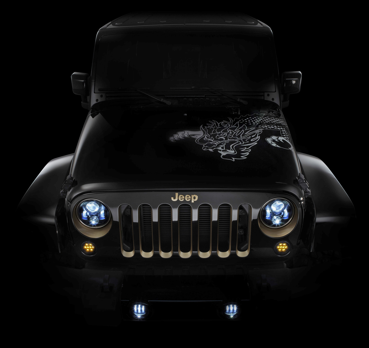 jeep wrangler with led headlights. Cars Review. Best American Auto & Cars Review