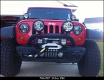 Jeep with LED Headlights