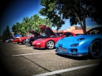 There was a great lineup of vehicles including a stock RX7, a highly modified RX7 and a 900hp Oldsmobile Cutlass!