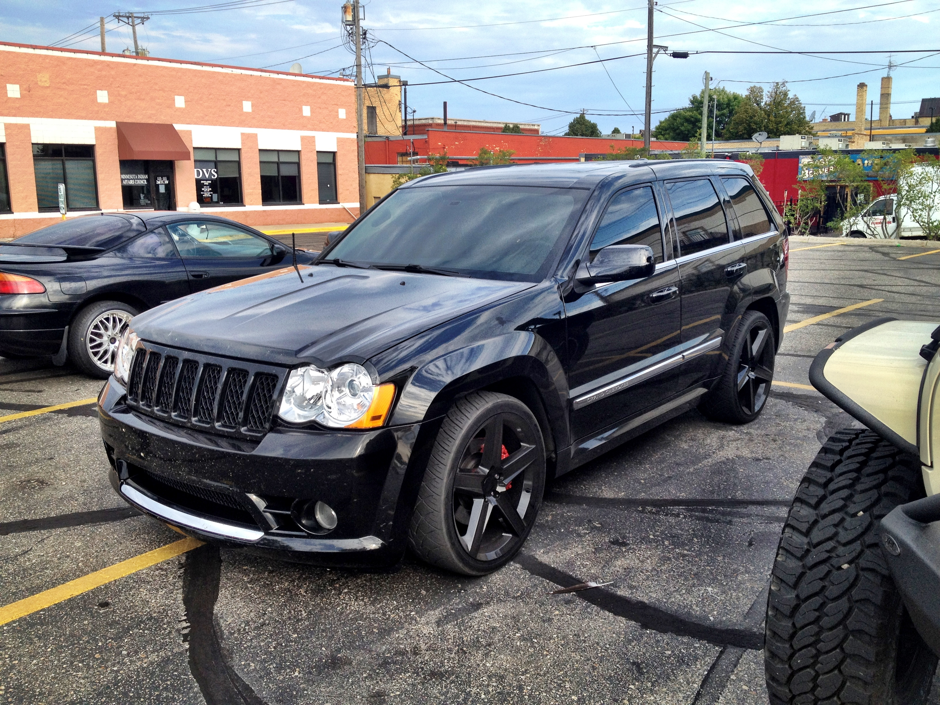 matte black for cherokee inch gloss fitted s sale jeep with in gray grand