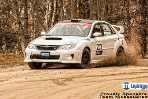 Team Nicksquared rally car
