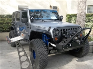 Jeep JK Wrangler with LED Headlights, no flashing