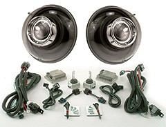 "7"" Round Projector headlights from Starr HID: Black Version"