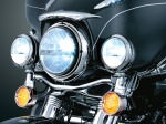Here is a motorcycle sporting the Truck-Lite 27270C LED headlights and the matching #80275 LED fog lights!
