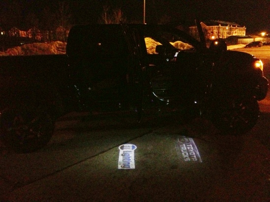 GTR Lighting LED Logo Projectors installed on a Toyota Tundra.