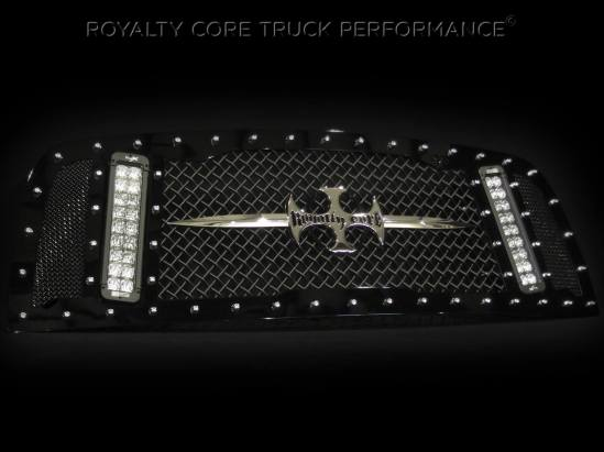 "Introducing the new ""RCX LED Light Bar Grille"". This model fits a 2013 Ram 2500/3500 and is designed to hold a pair of Vision X #XIL-PX1810 light bars which put out 8,900 Lumens EACH!"