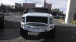White truck with LED Light Bars