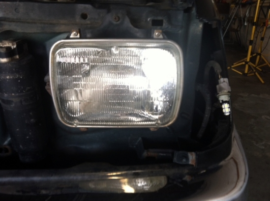 The old headlight.