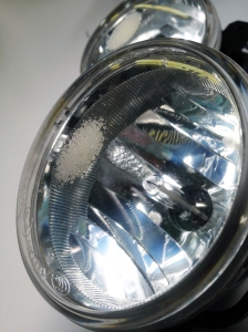 burnt fog light