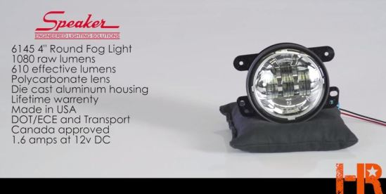 JW Speaker 6145 LED Fog Light