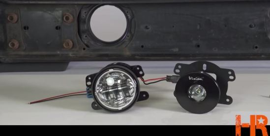Jeep LED Fog Lights with built in mounting
