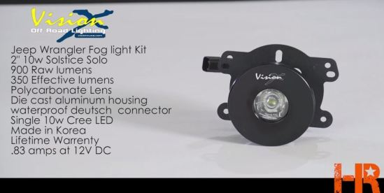 10W Vision X Solstice Solo LED Fog Light