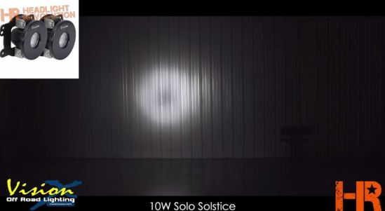10W Vision X Solstice Solo LED Fog Light beam pattern