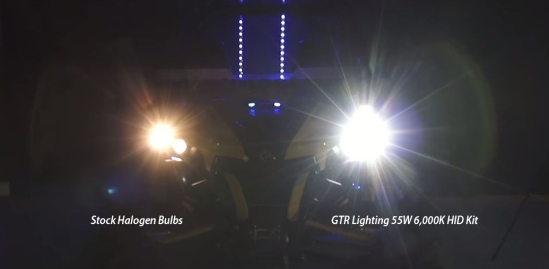 HID and halogen comparison in a Can-Am