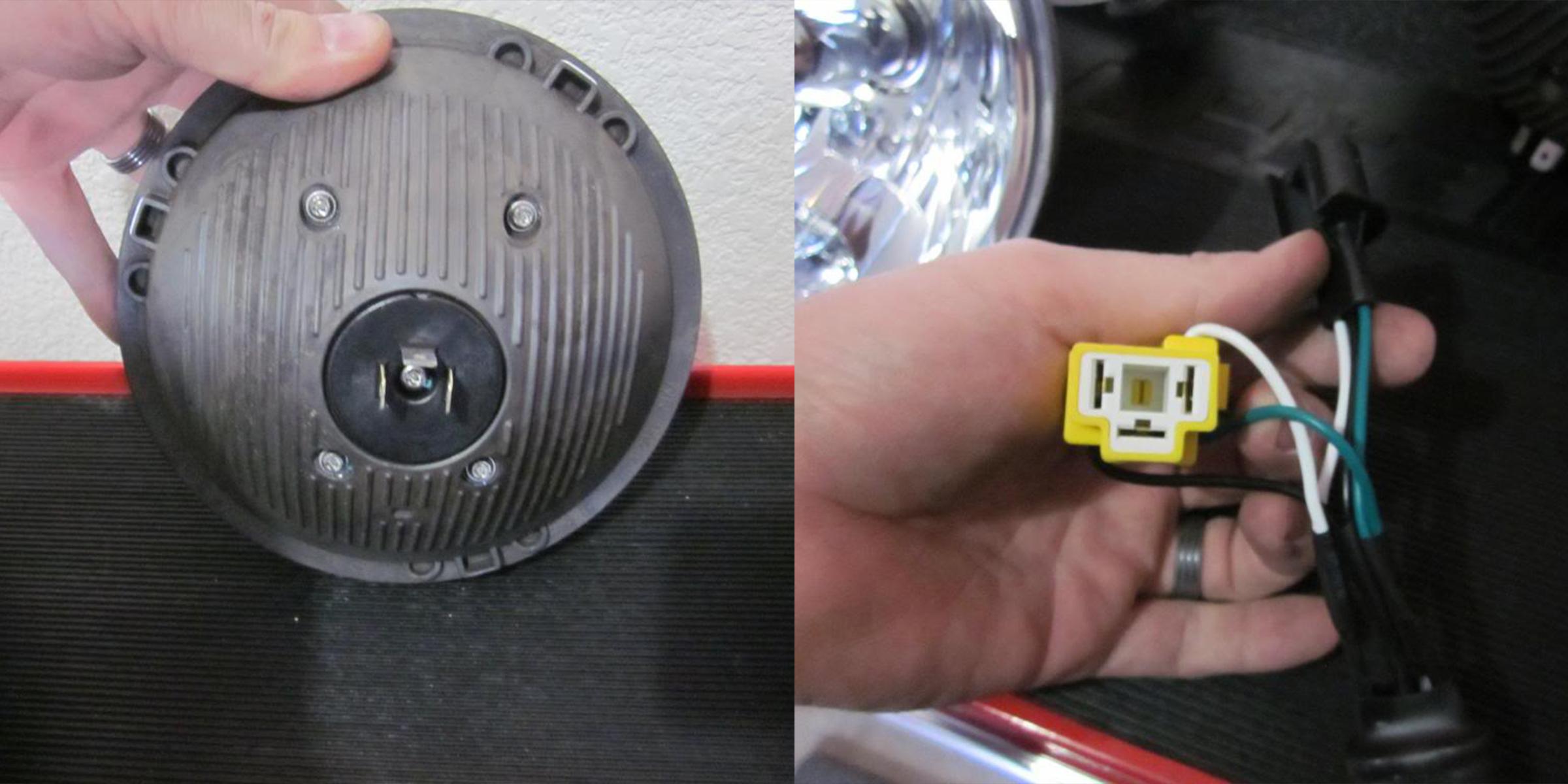 Jeep Headlights Better Automotive Lighting Blog Kc Light Wiring Harness Hilites 7inch Led Headlight Back And
