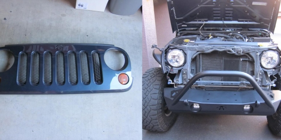 removed Jeep grille