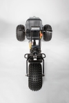 This top view gives you a good idea of the shape and stature of this beastly 3 wheeler!