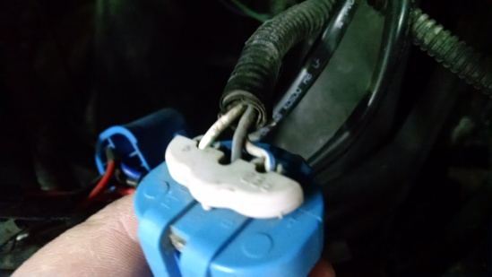 Just for reference sake, here's what the back side of the original factory connector looked like.