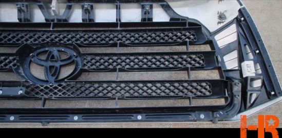 This is what the grille on the Tundra looked like before being cut up to fit the Royalty Core grille.