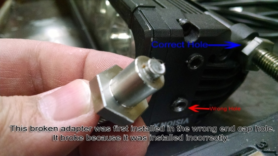 How to install Vision X end cap mount