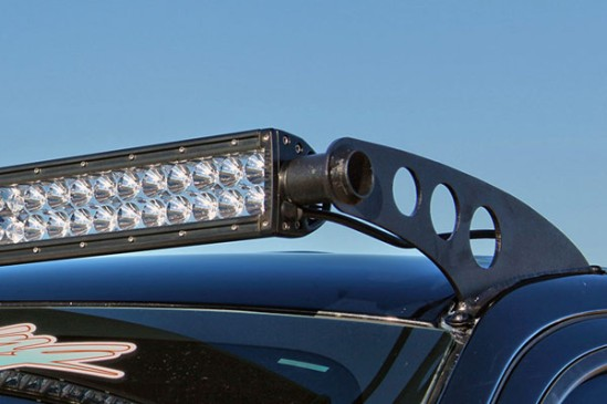 Many light bars use end-cap mounts with a stud coming out to attach to the vehicle. If your light bar mount is designed for this style of light bar but you want to use Vision X you need to add the end-cap mounting kit.