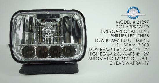 United Pacific 31297 LED headlight