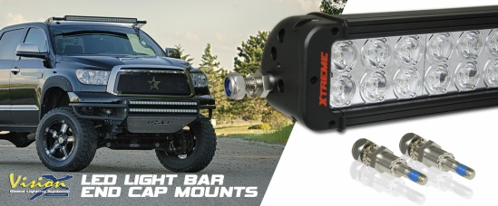 The end cap kit comes with all the required hardware and allows you to mount a Vision X LED light bar with end-cap style vehicle mounts.